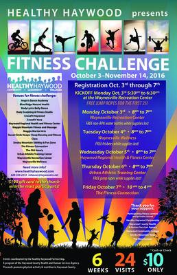 Fitness Challenge Poster 2016 — Healthy Haywood