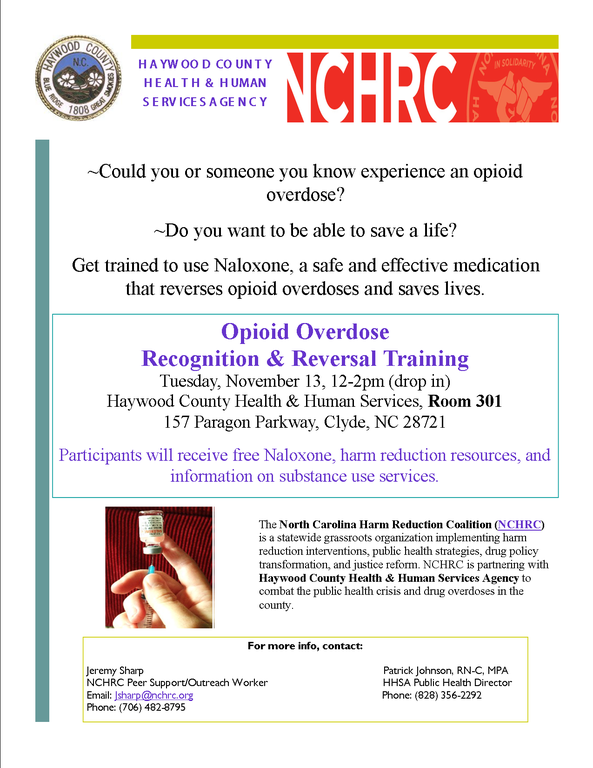 Naloxone Training- November 2018